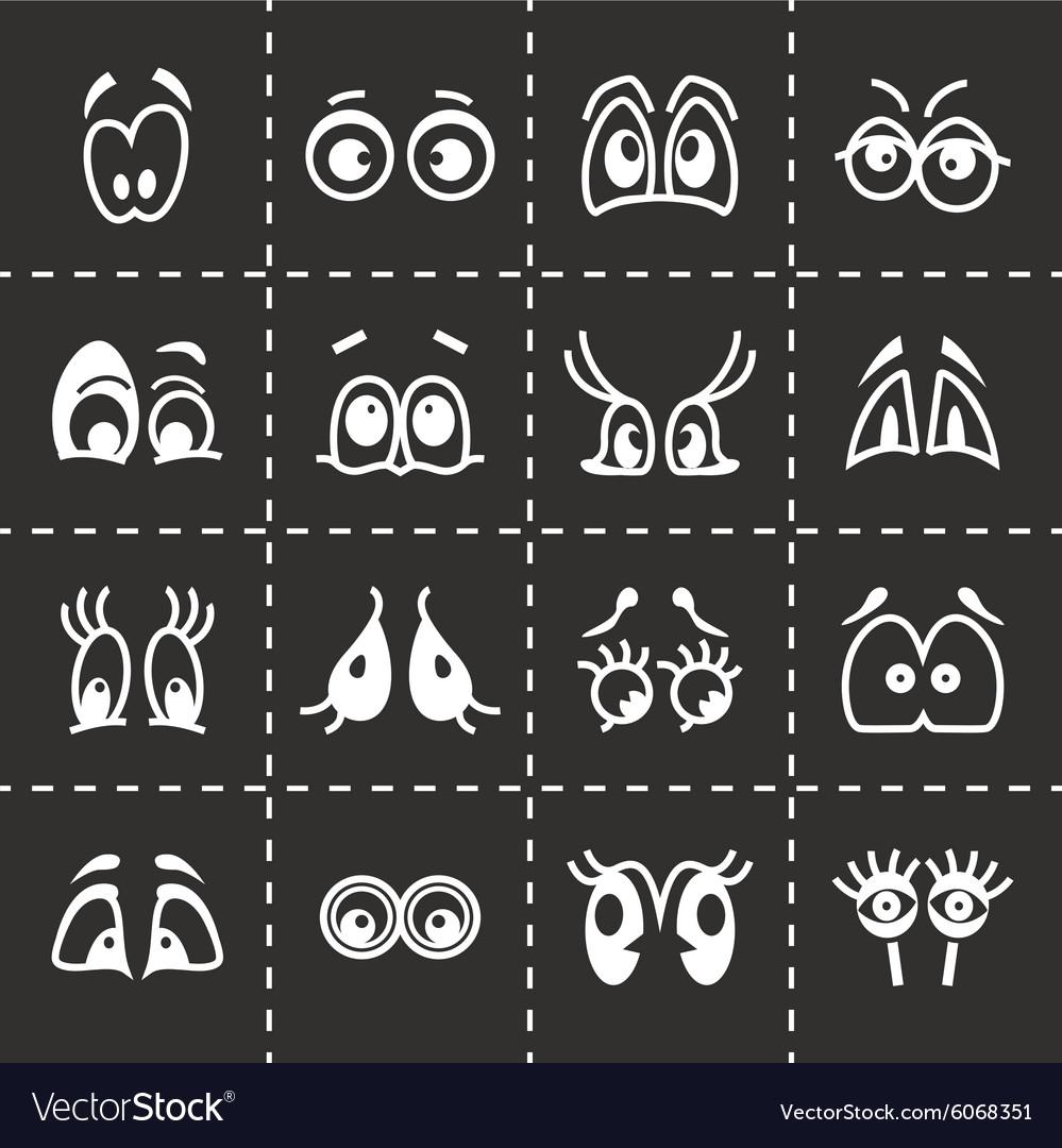 Cartoon eyes icon set