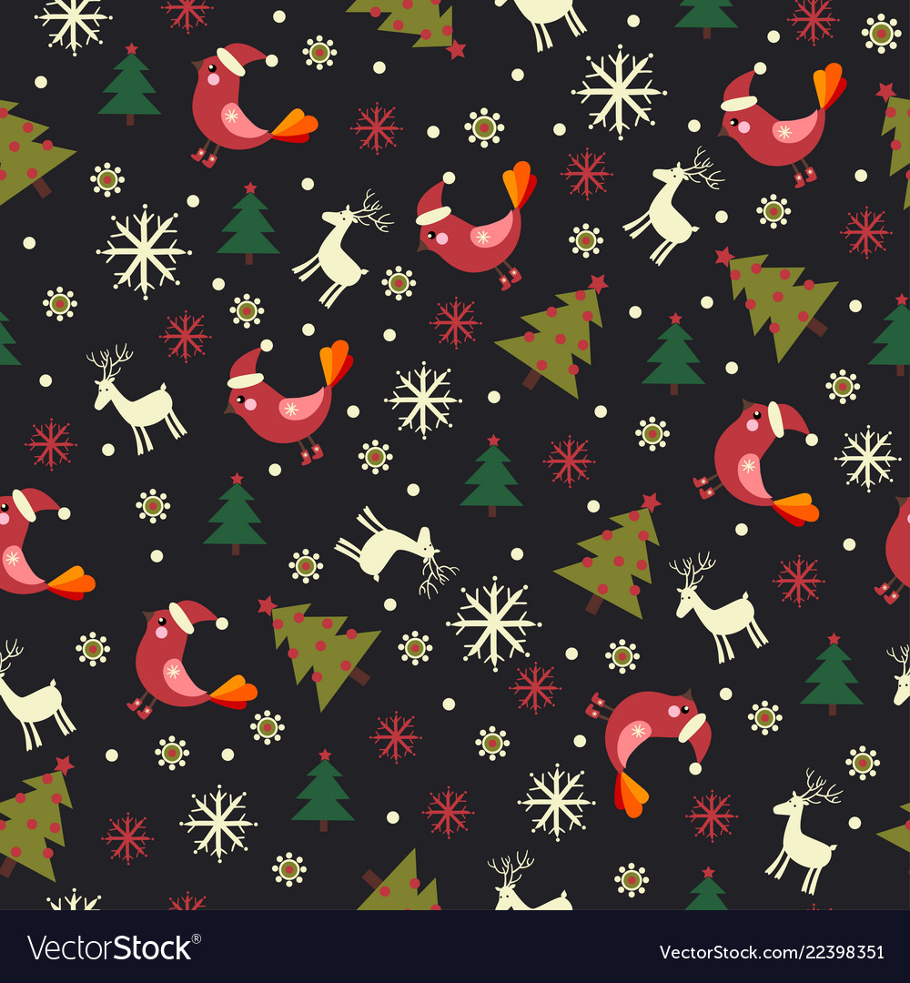 Christmas pattern with christmas trees