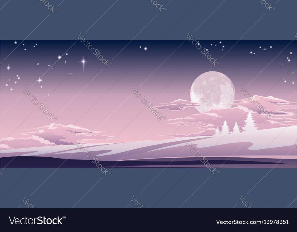 Christmas winter scene vector image