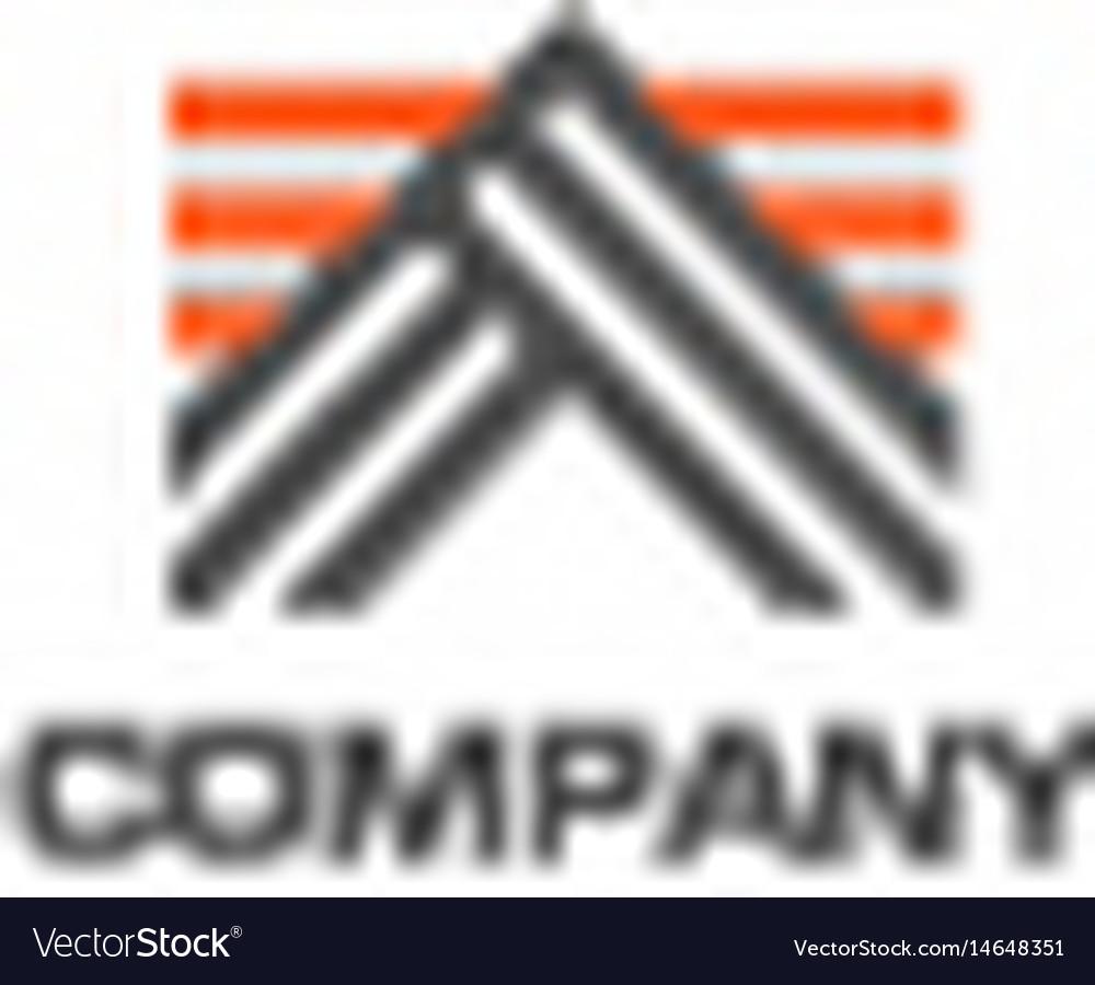 Creative letter a line logo design vector image