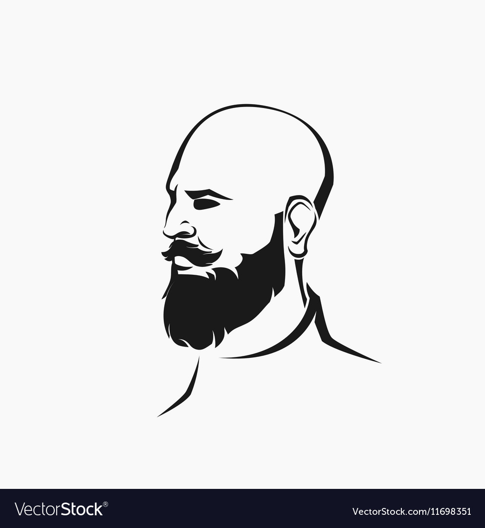 Hipster figure with beard vector image