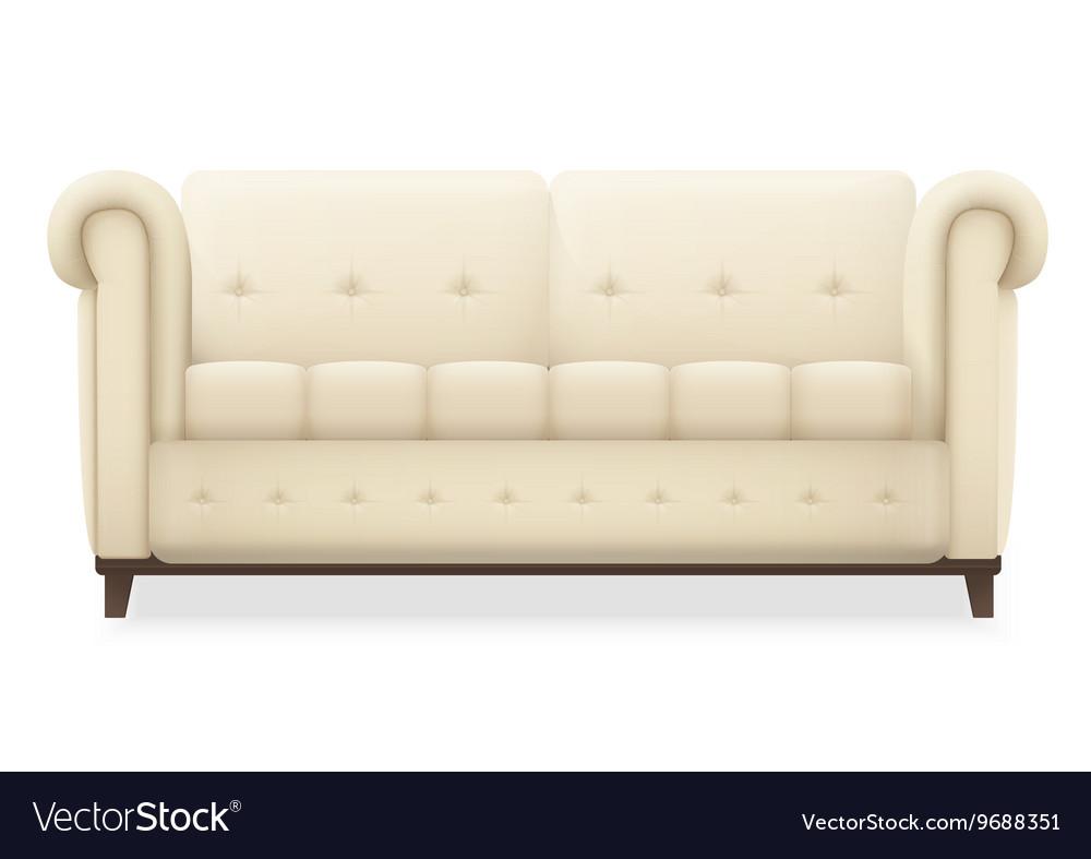 Leather luxury modern vintage living room sofa