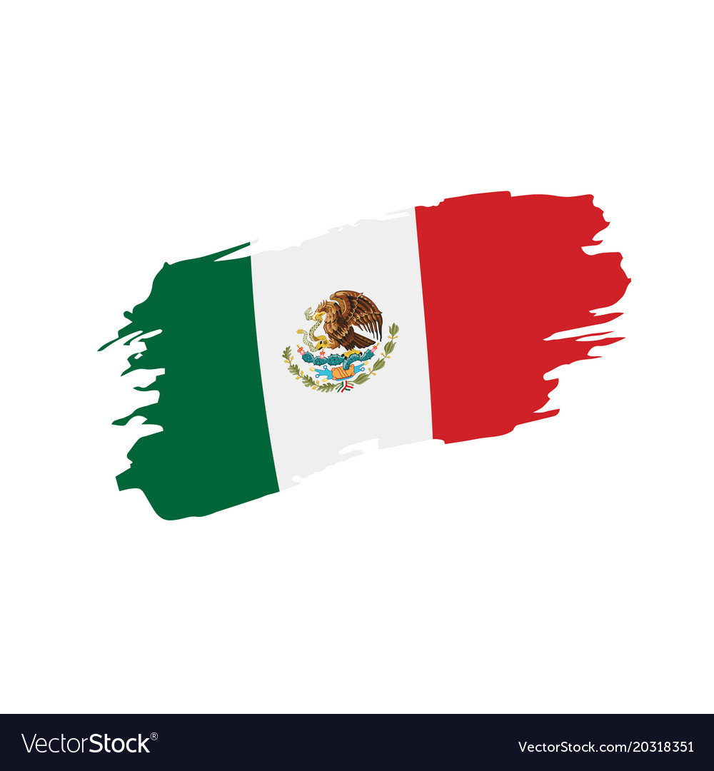 mexican flag royalty free vector image vectorstock rh vectorstock com mexican flag vector mexican flag vector art