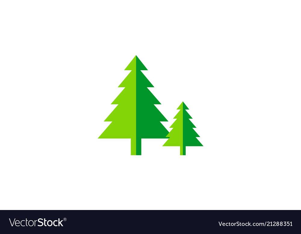 Pine tree green nature logo
