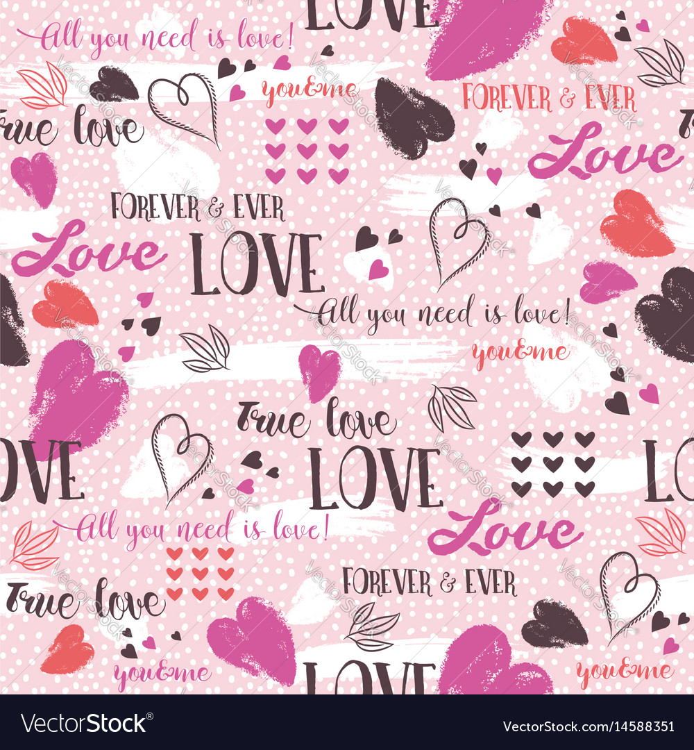 Pink background with red valentine heart and