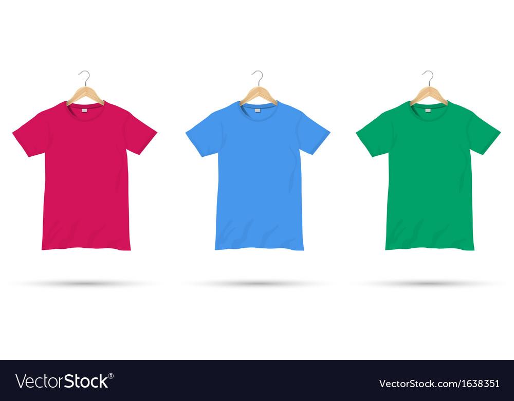 Tshirts on hangers vector image