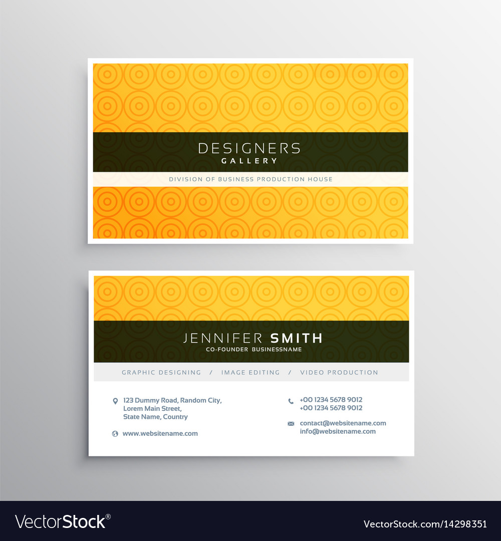 Yellow minimal elegant business card template vector image cheaphphosting Image collections
