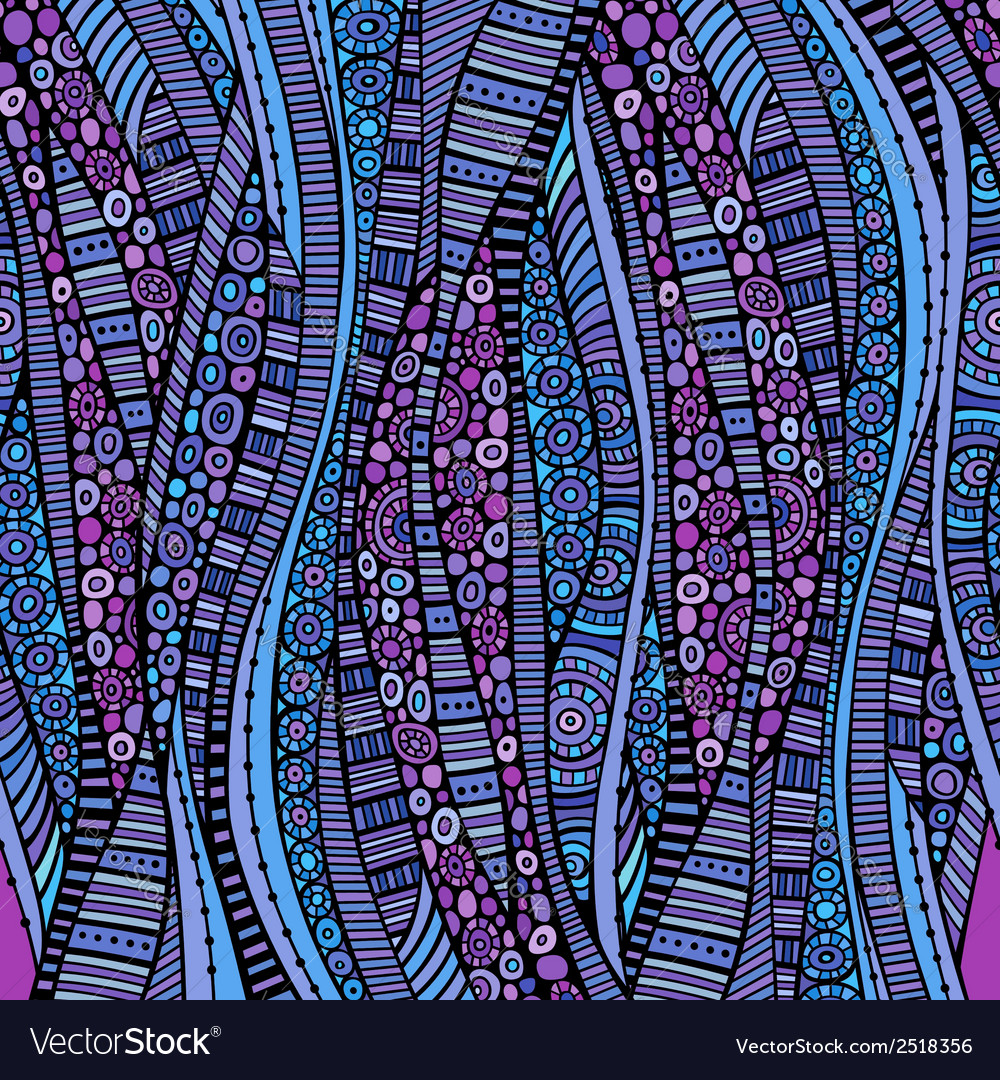 Abstract decorative waves background vector image