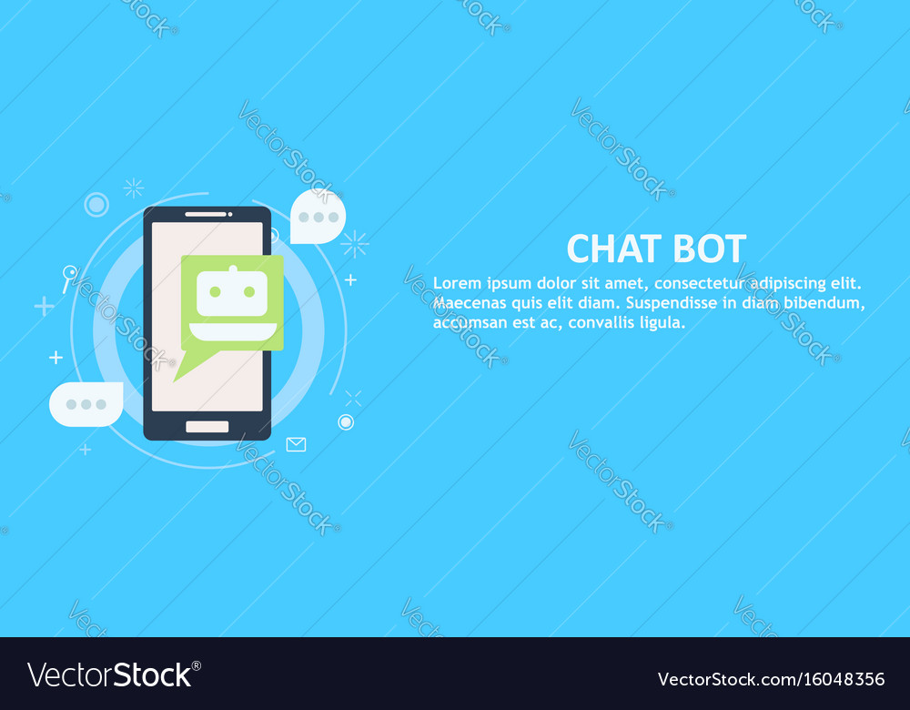 Chat bot on phone banner