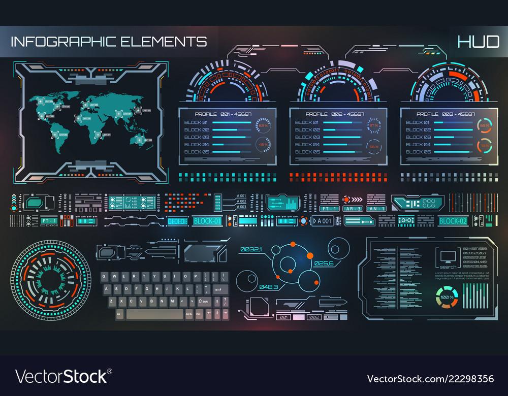 Hud ui futuristic user interface hud and