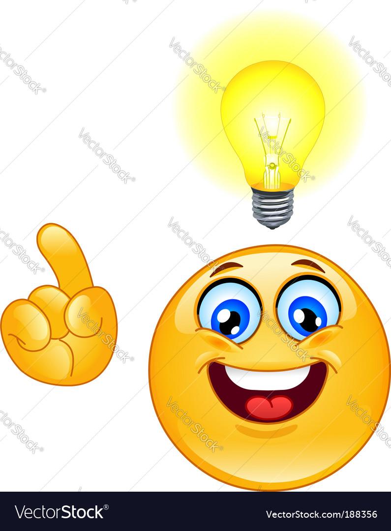 Idea emoticon vector image