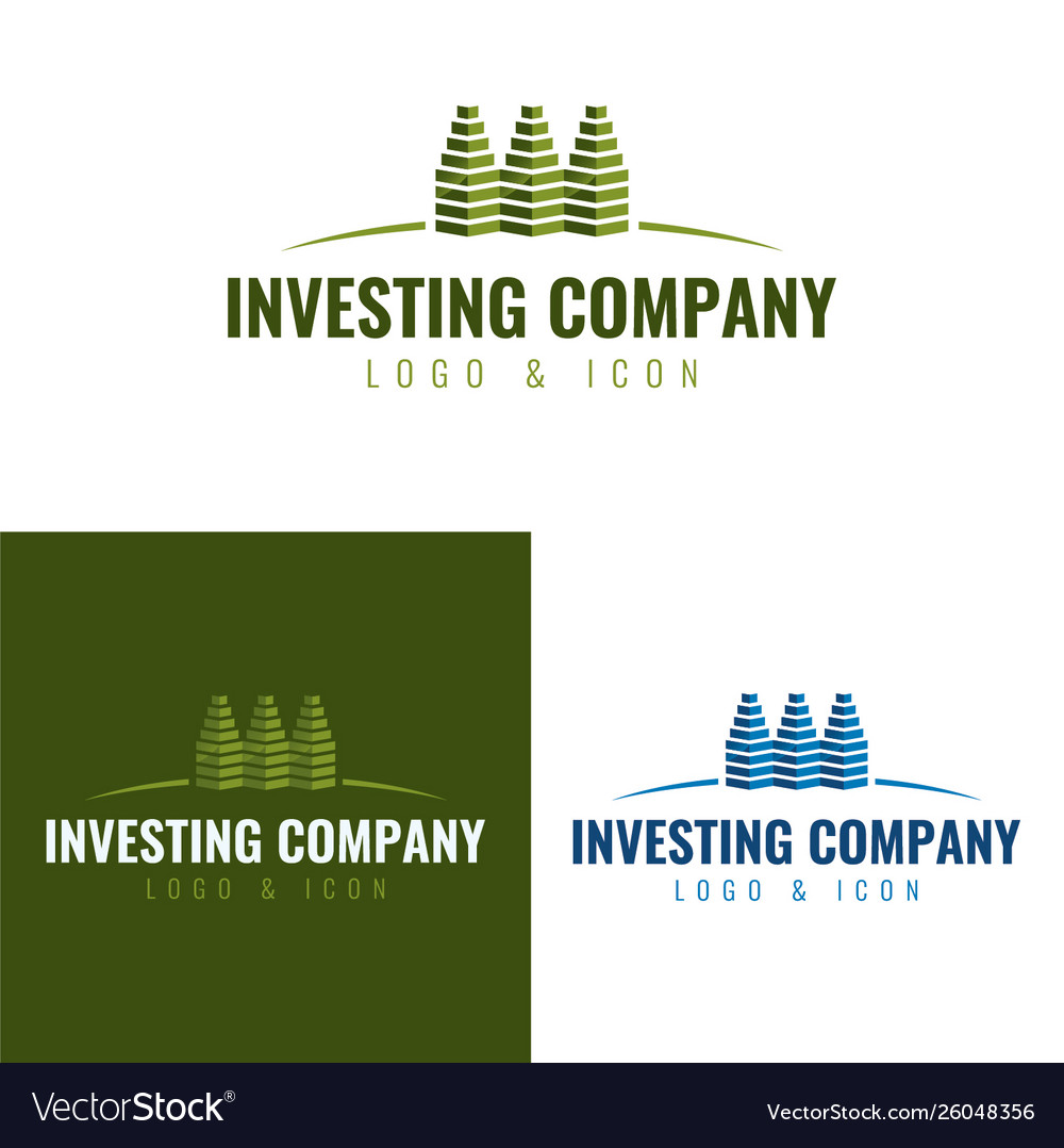 Investing and real estate company logo and icon