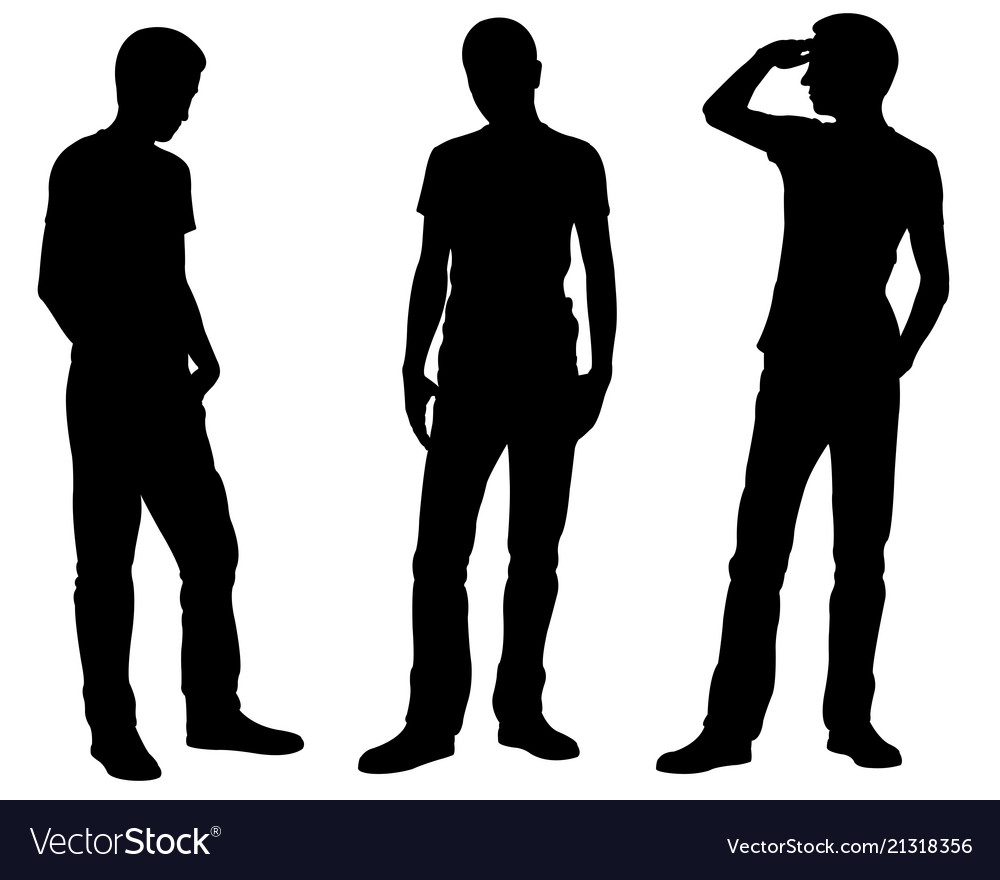 Men is different standing positions