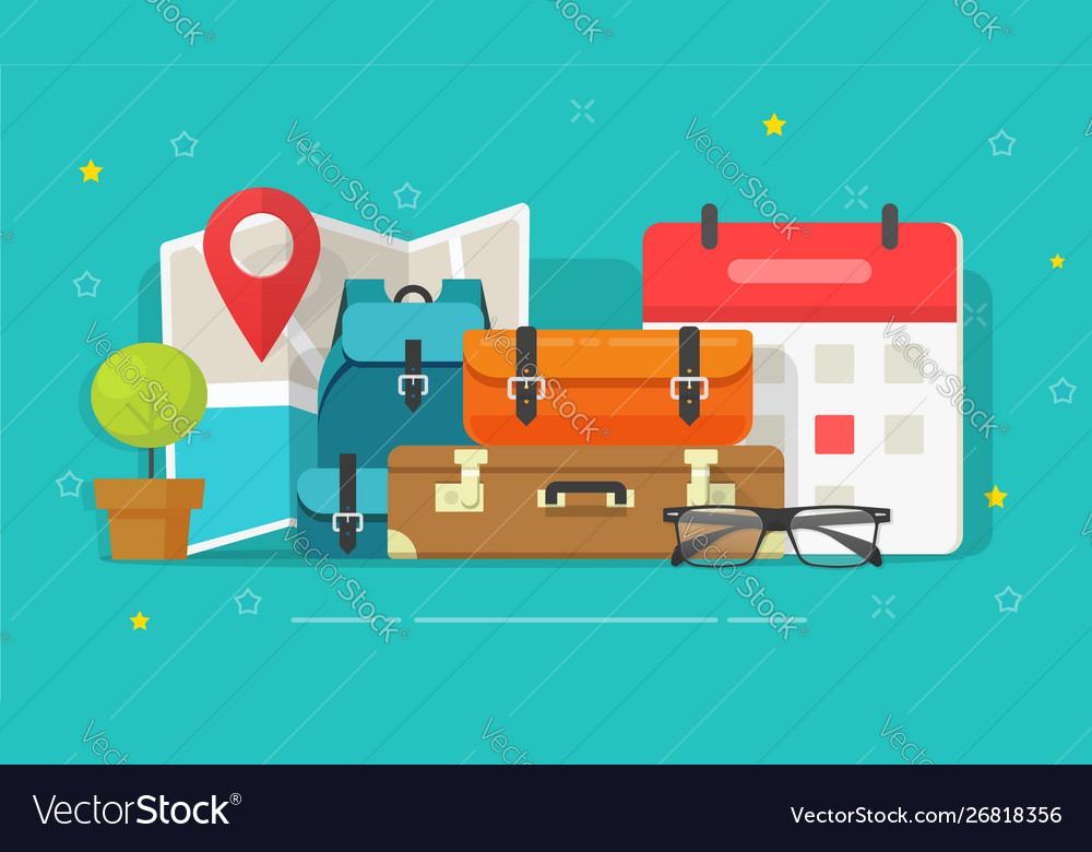 Travel or trip destination planning and schedule
