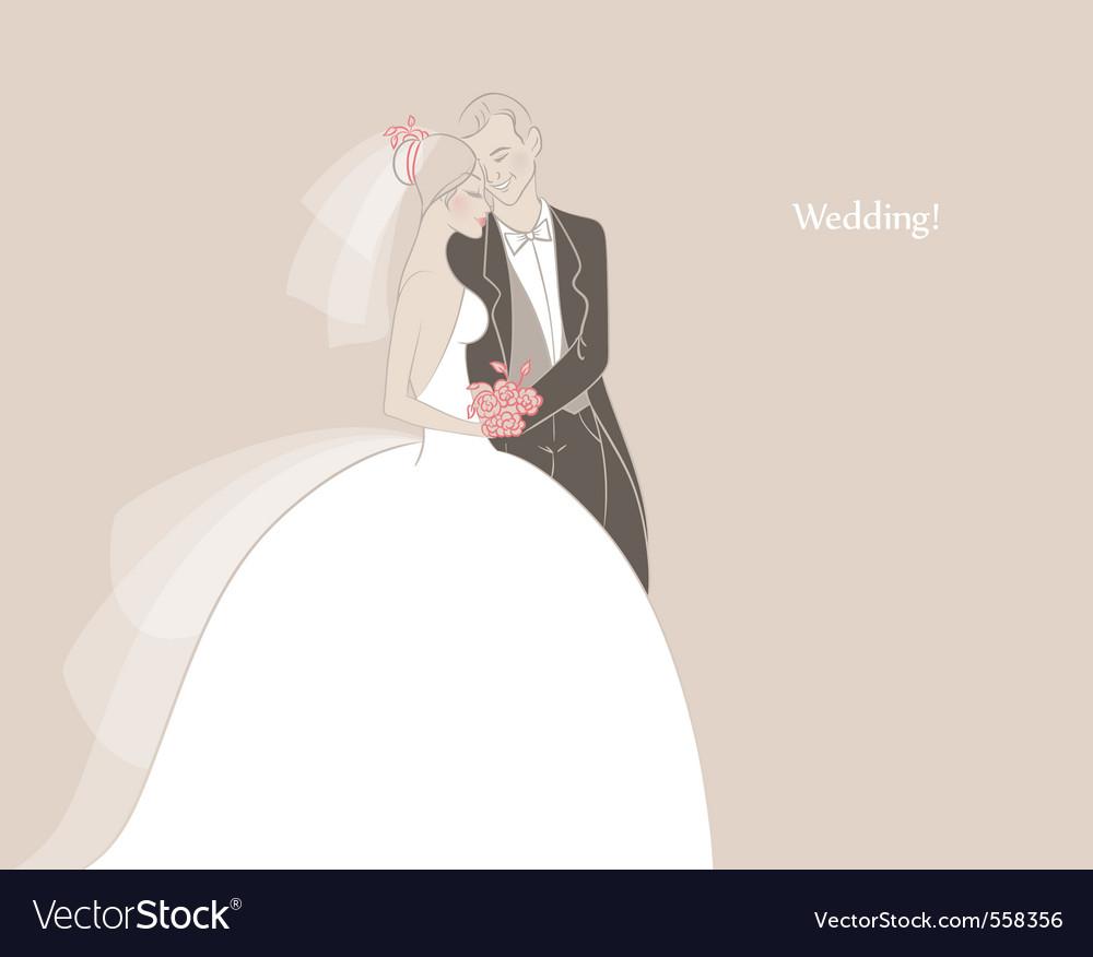Wedding couple vector image