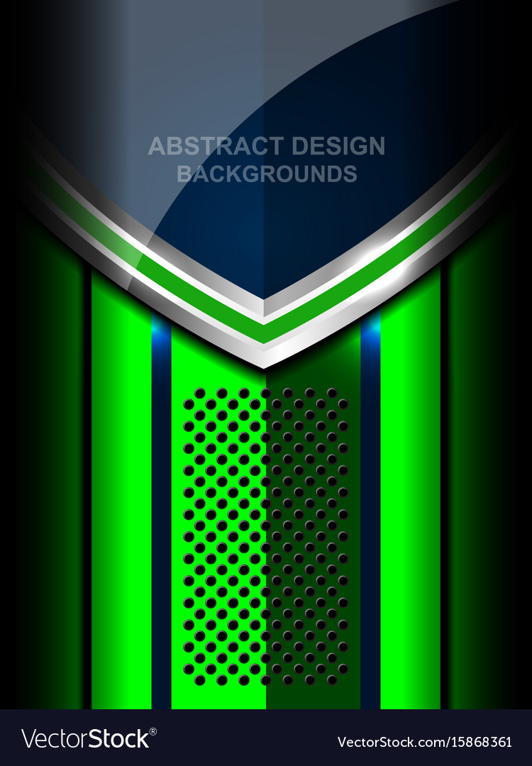 Abstract Metal Green Background Design
