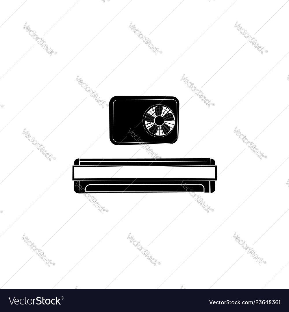 Air conditioner icon black on white background