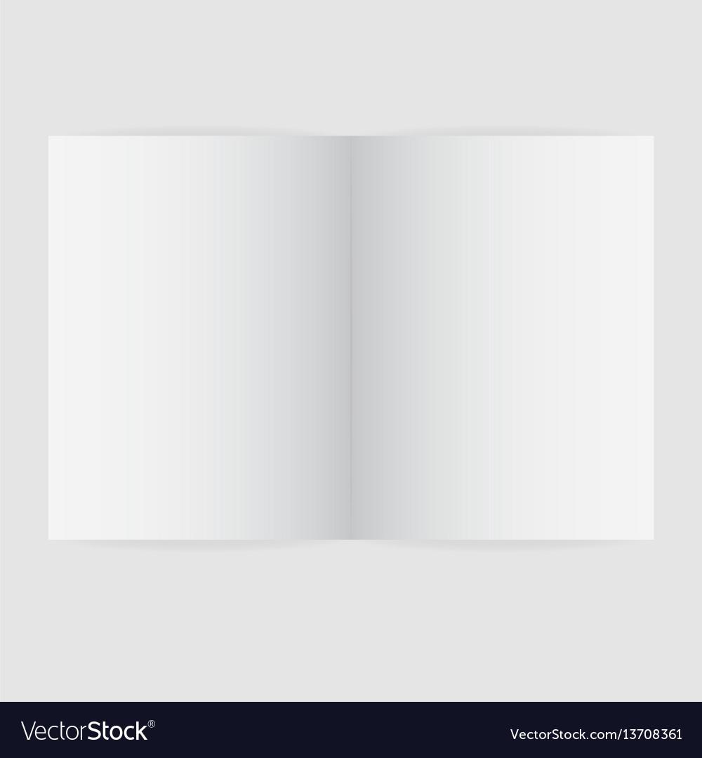 Blank magazine spread template