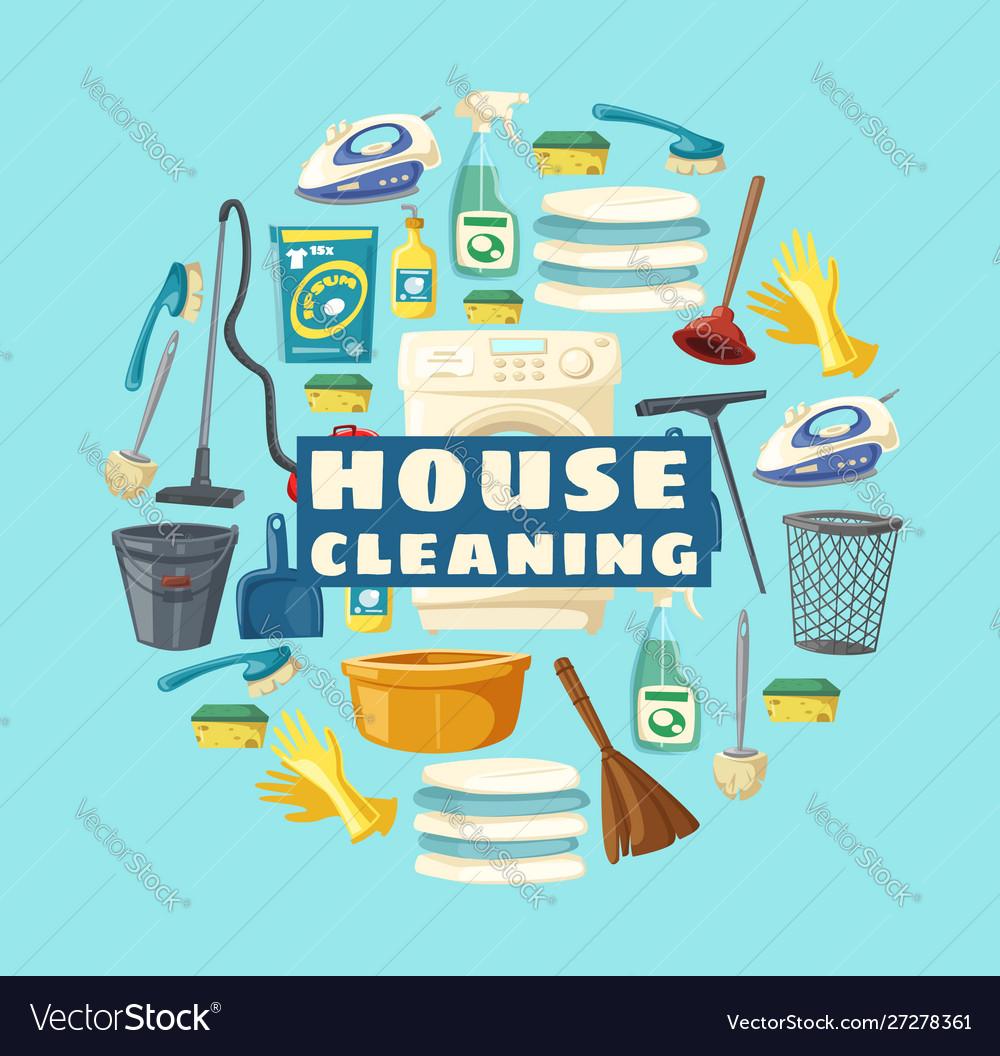 House Rengöringstjänster, verktyg för att hålla hemmet rent. Royalty -Fri Clipart, Vektorer Och Stockillustrationer. Bild 109761891.