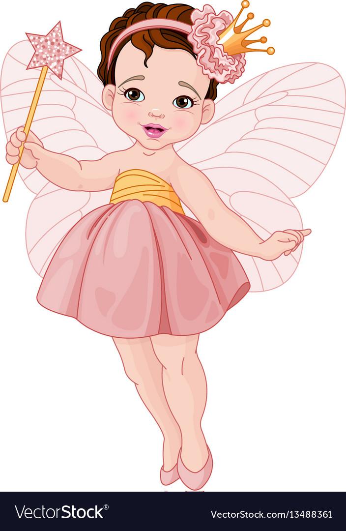 Cute fairy ballerina vector image