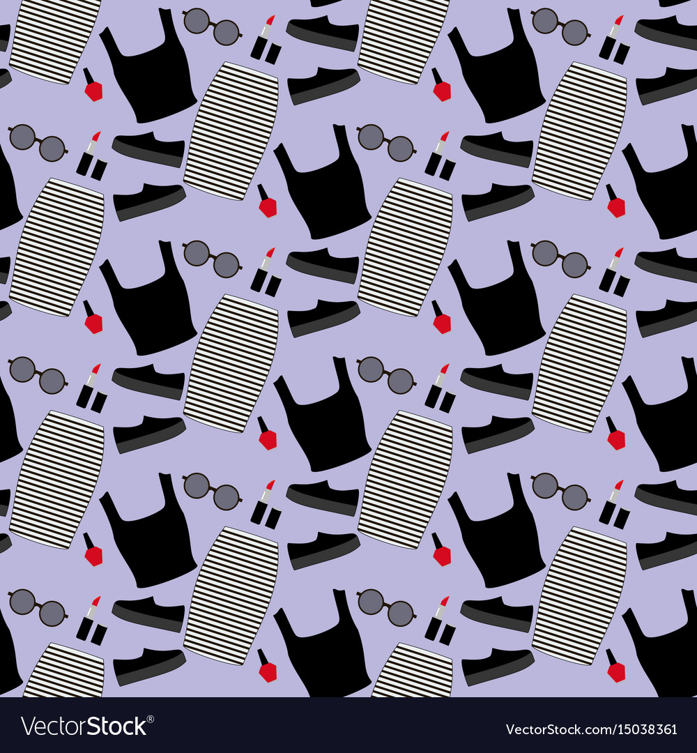 Fashion look pattern vector