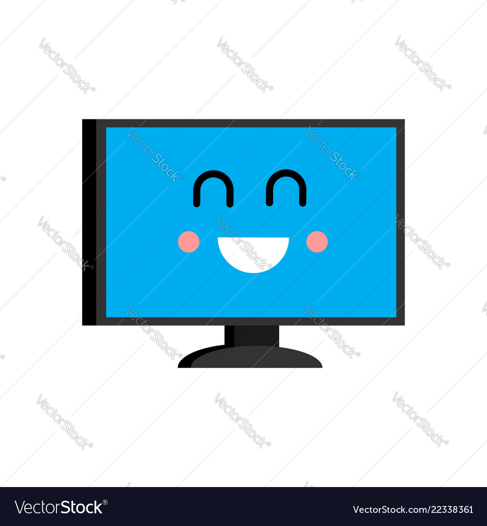 Happy computer emoji merry pc avatar