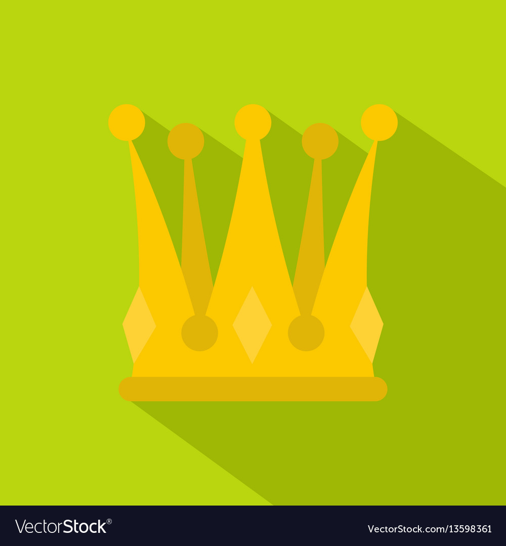 Kingly crown icon flat style