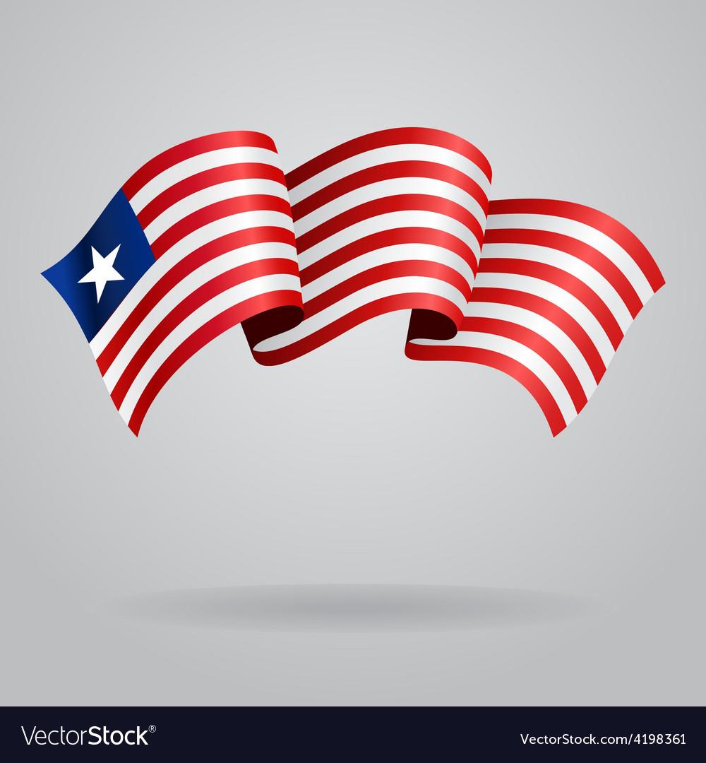 Liberian waving Flag