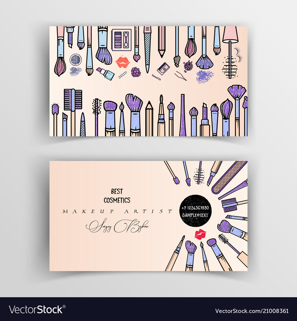 Makeup Artist Business Card Template