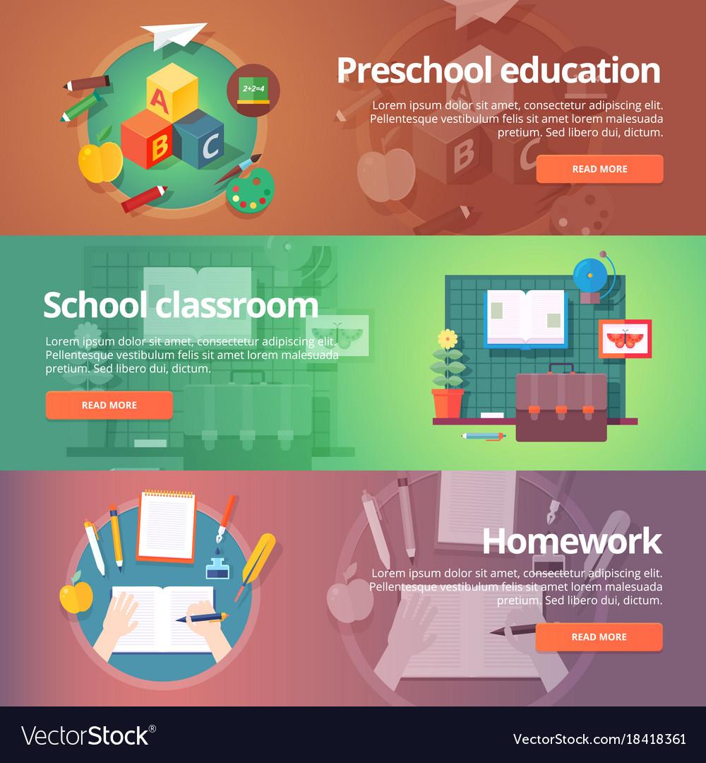 Preschool education kindergarten childhood vector image