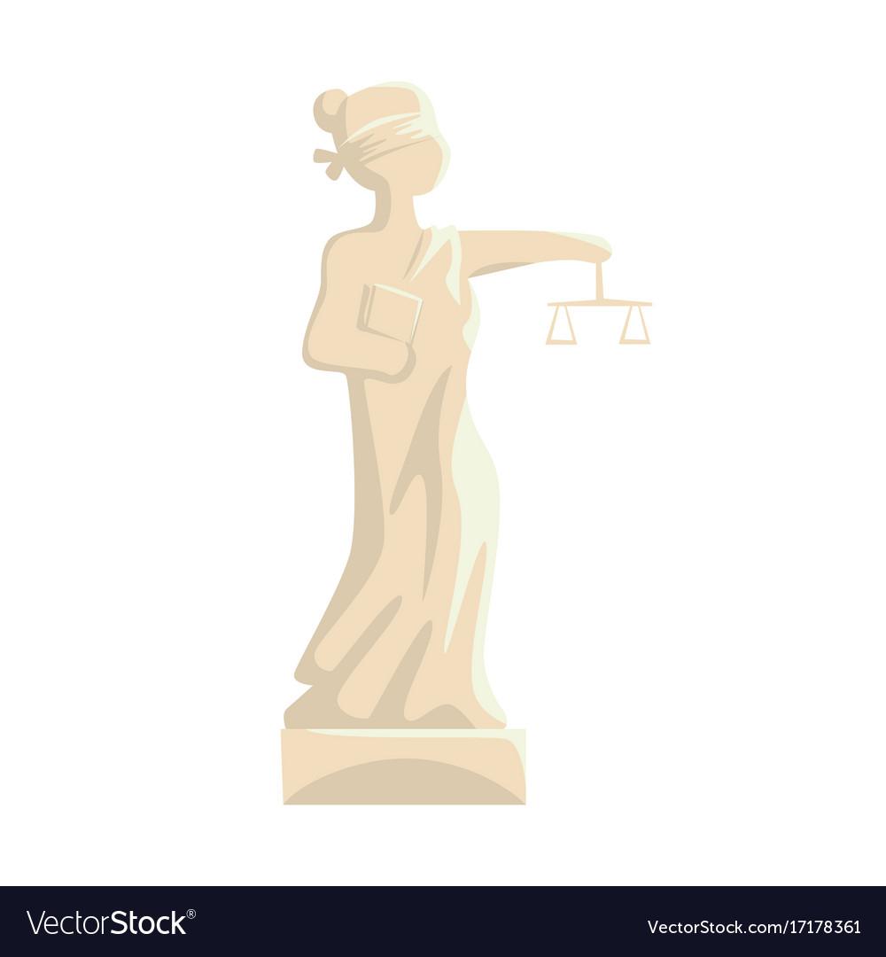 Themis femida statue lady of justice cartoon