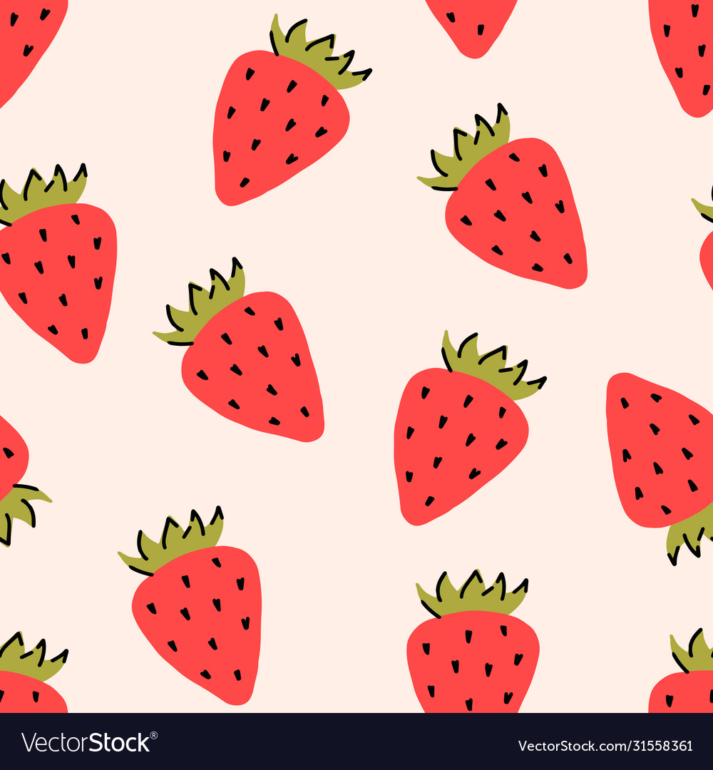 Wild or garden strawberry fruit red berry