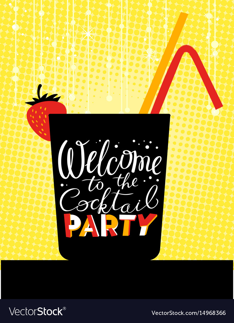 Cocktail party poster holiday invitation welcome