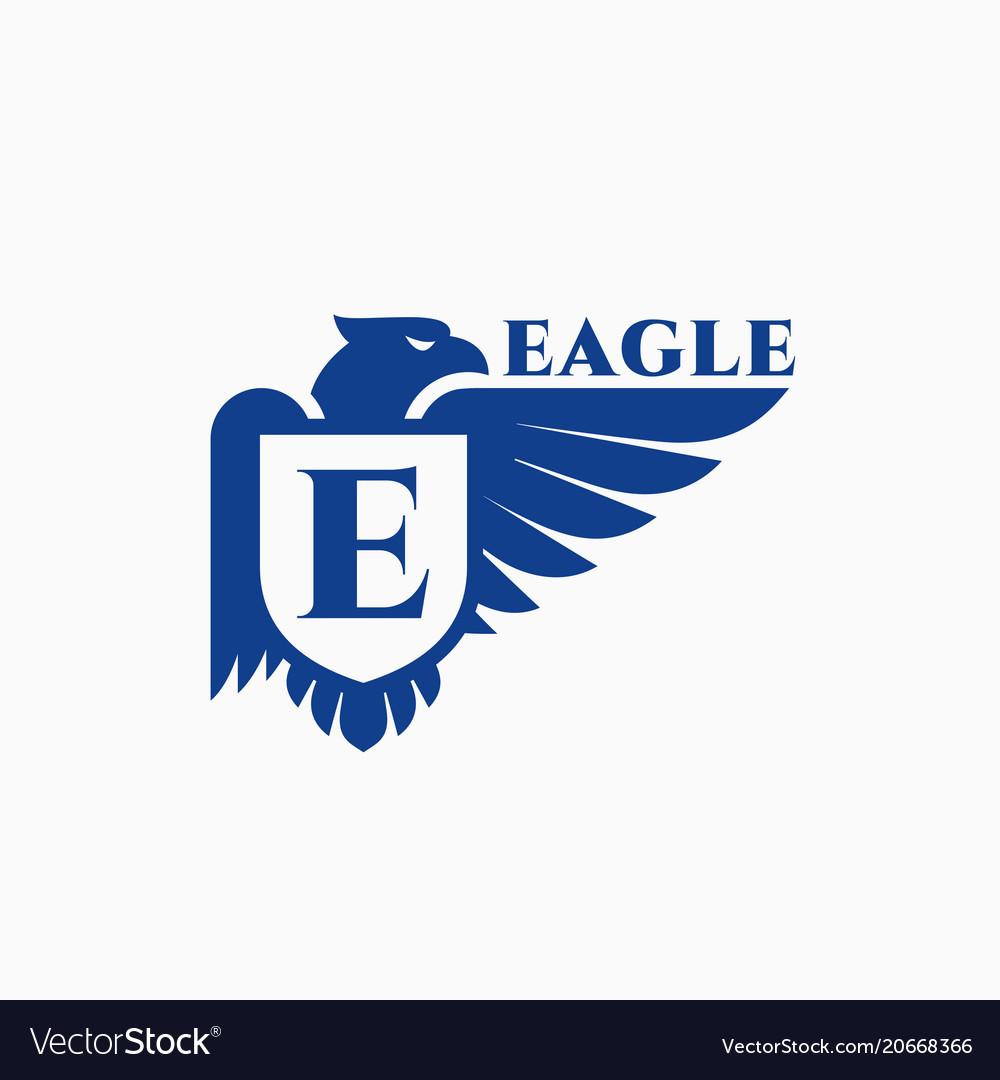eagle logo royalty free vector image vectorstock