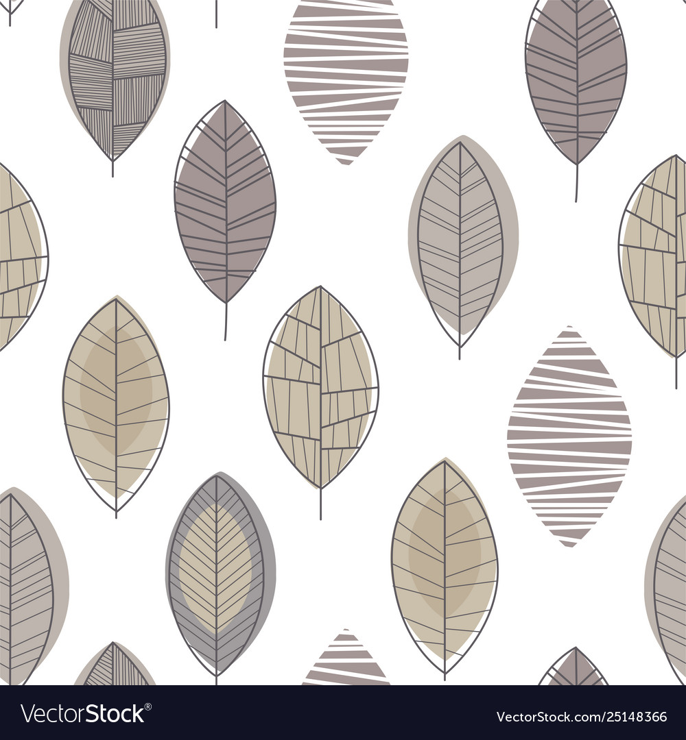 Forest leaves seamless pattern design element can