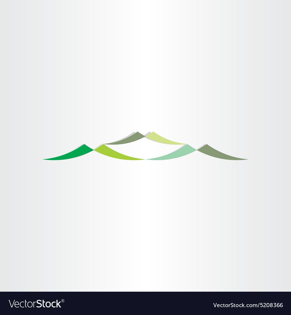 Green mountains logotype design icon