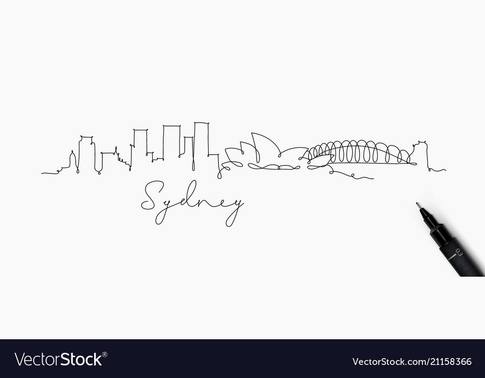 Pen line silhouette sydney