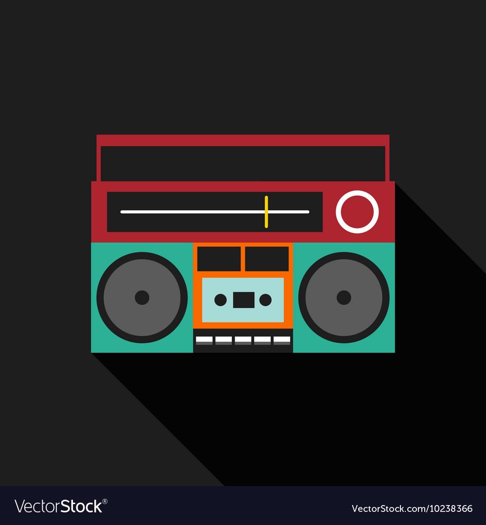 Retro vintage boombox radio flat design