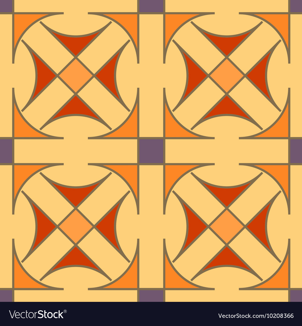 Seamless geometric pattern Color