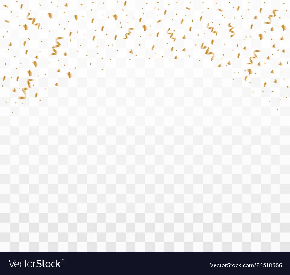 Shiny golden confetti