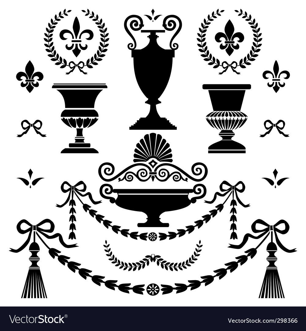Style design elements vector image