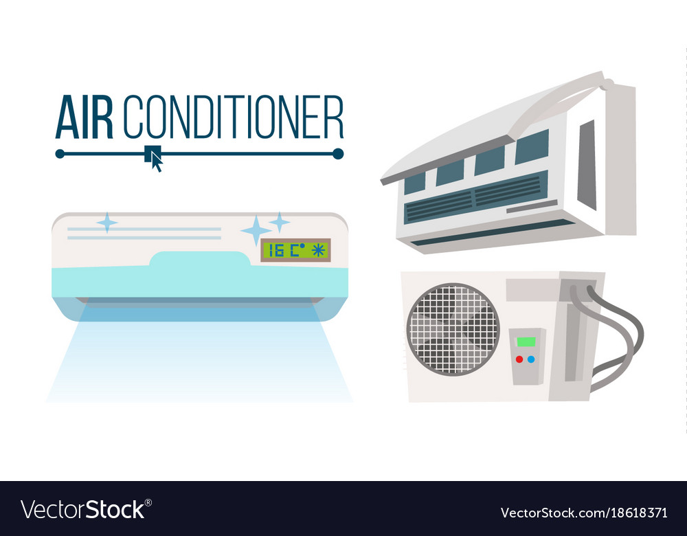 Air conditioner set different types office
