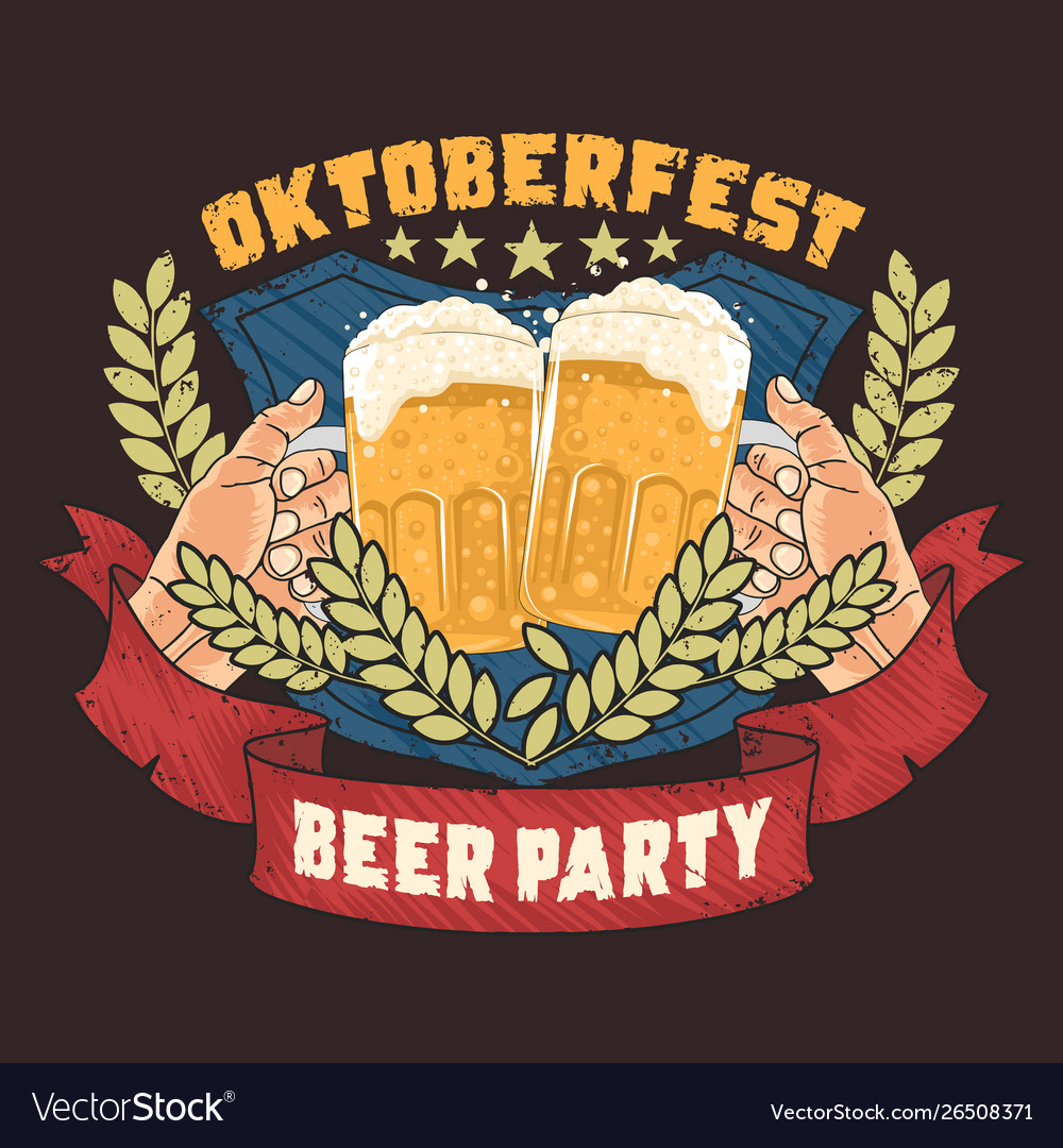 Beer party oktoberfest artwork