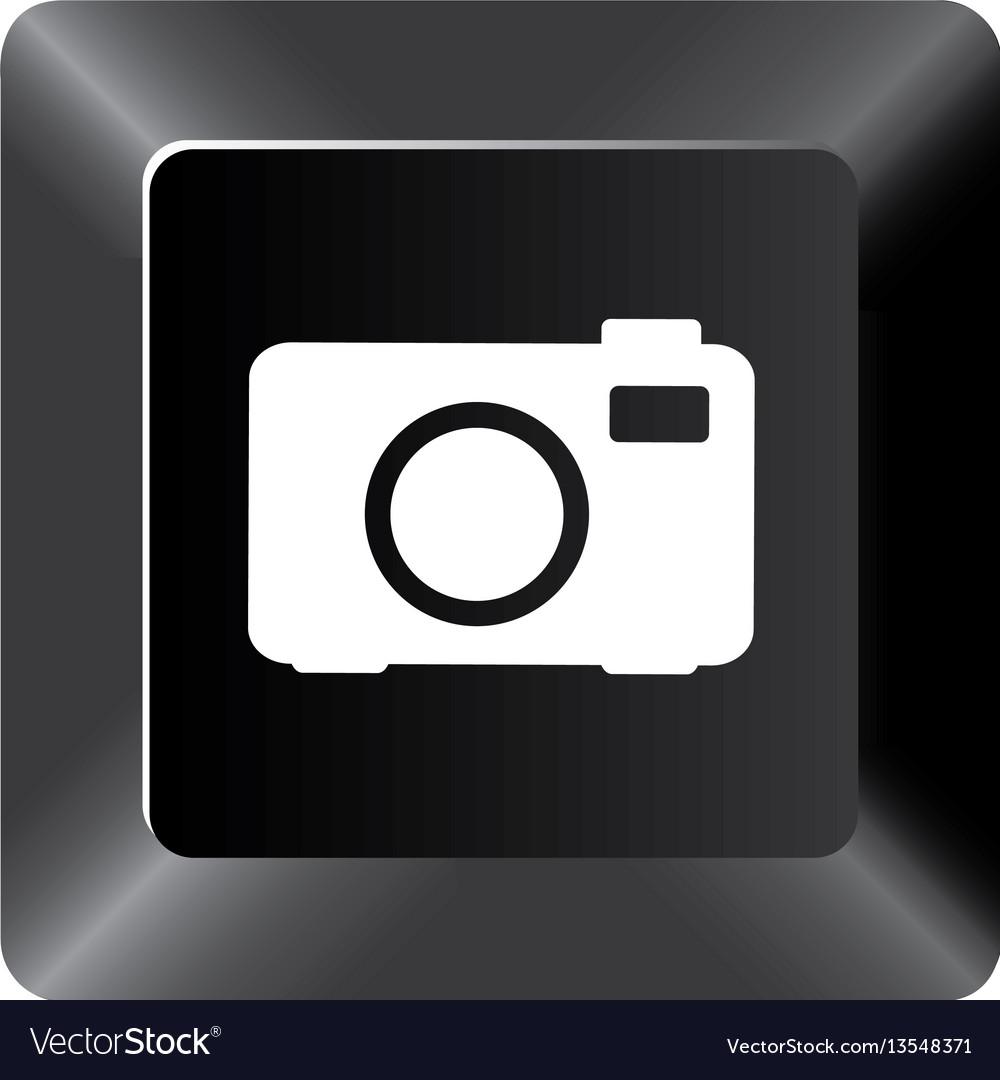 Black button camera icon