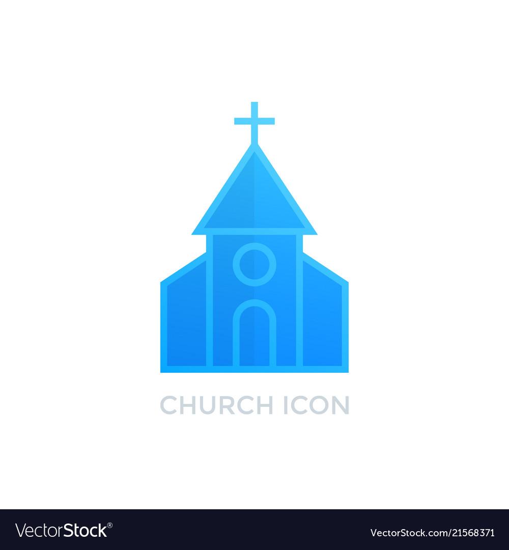 Church catholic monastery icon on white