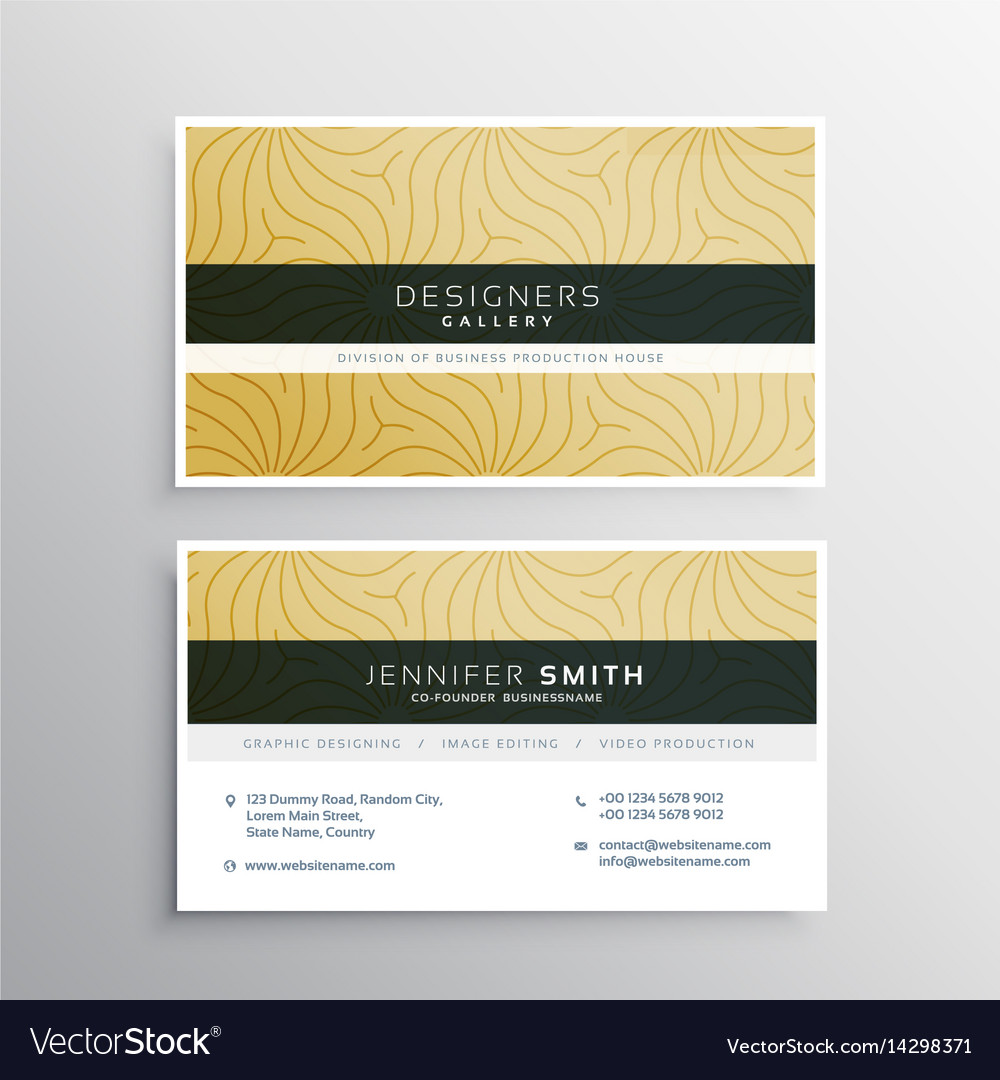 Elegant business card template with abtract vector image accmission Image collections