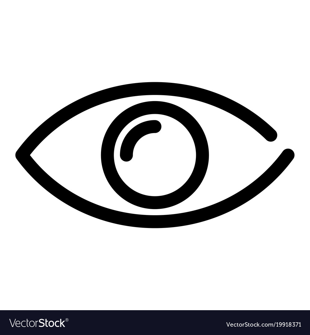 Eye icon symbol of preview or searching outline