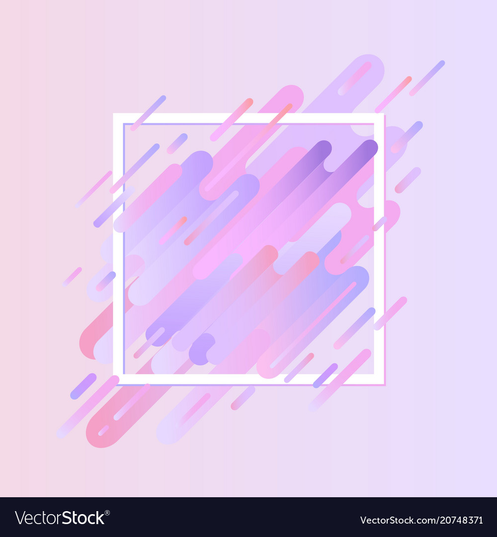 Glitched geometric colorful banner with distortion