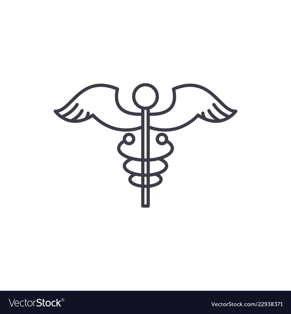 Medicine sign line icon concept medicine sign