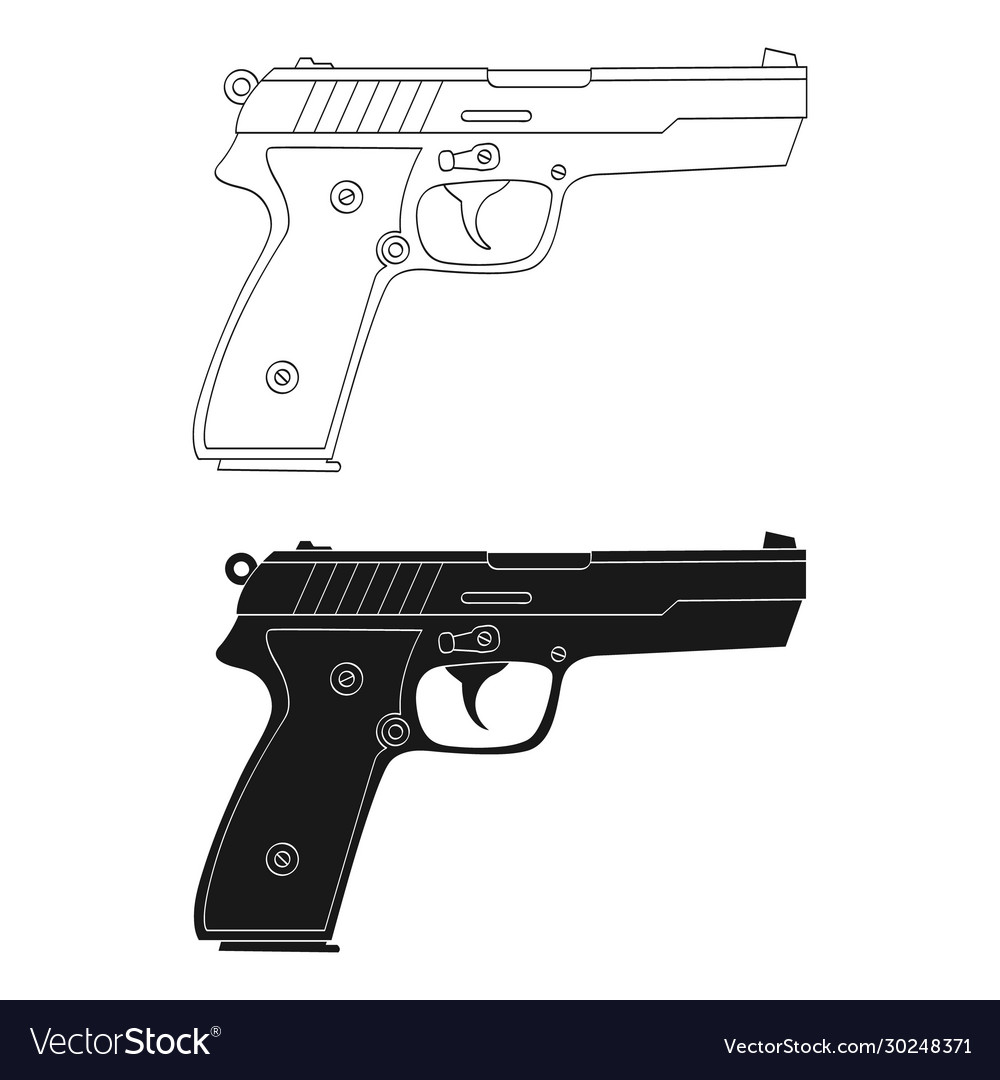 monochrome icon with pistol royalty free vector image monochrome icon with pistol royalty free vector image